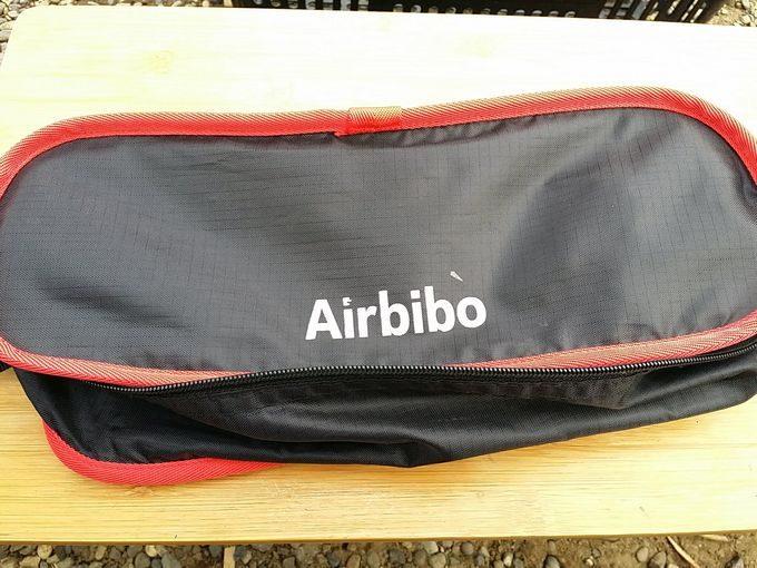 Airbibo アウトドアチェアのロゴが剥がれてきた