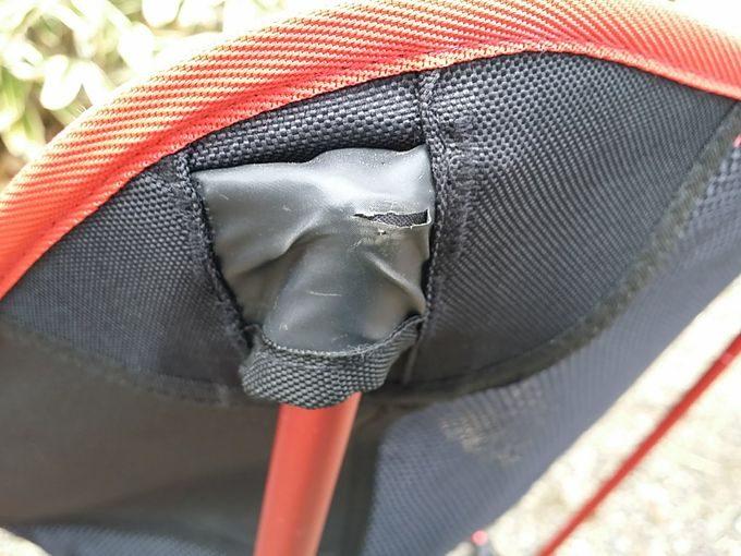 airbiboアウトドアチェアの支柱を支える箇所1