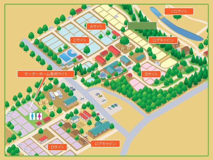 有野実苑オートキャンプ場 サイトマップ