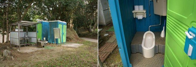 大原上布施オートキャンプ場 下段サイトのトイレ