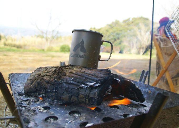 朝の焚き火ティータイム