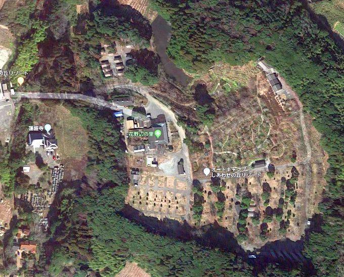 オートキャンプしあわせの丘リゾート Googleマップ