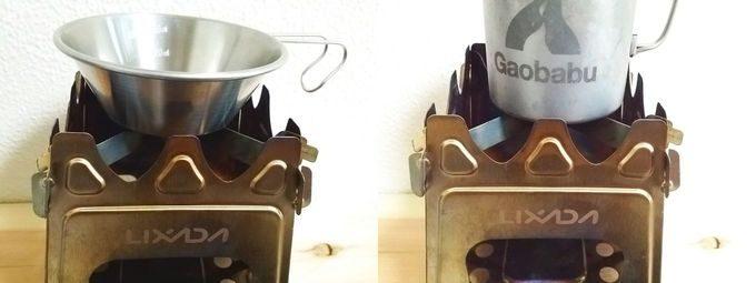 Lixadaバーベキューコンロ(ウッドストーブ) マグカップとシェラカップで使える