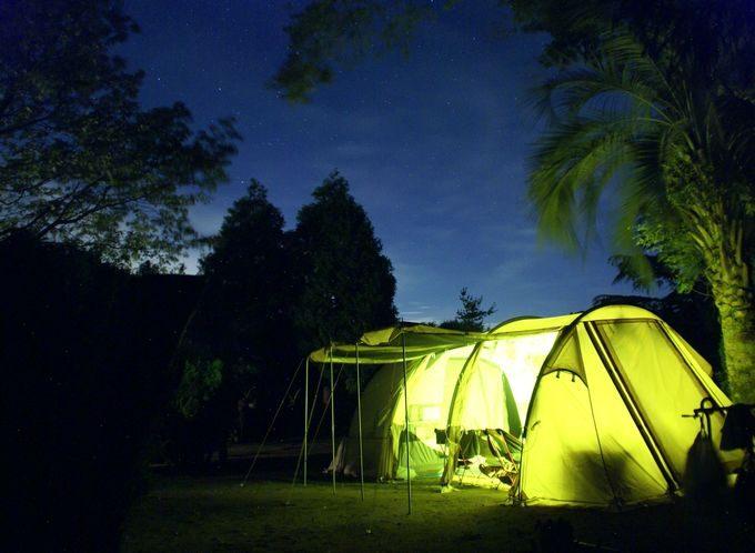 カマボコテント2(タンカラー)の夜姿