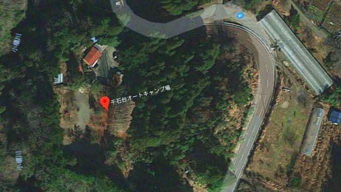 千石台オートキャンプ場の衛星写真