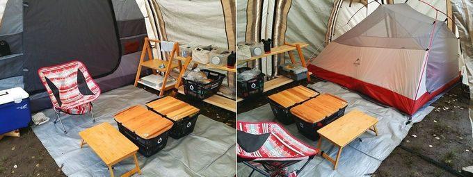 カマボコテント2にインナーテントを2つ設置