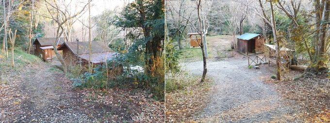 有野実苑オートキャンプ場 サイトBのバンガロー