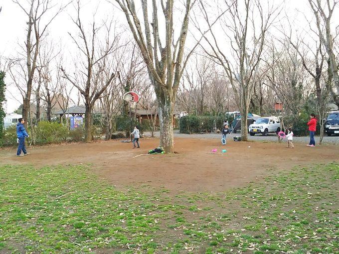 有野実苑オートキャンプ場のサイトDの広場