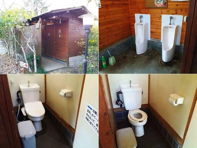 有野実苑オートキャンプ場のトイレ