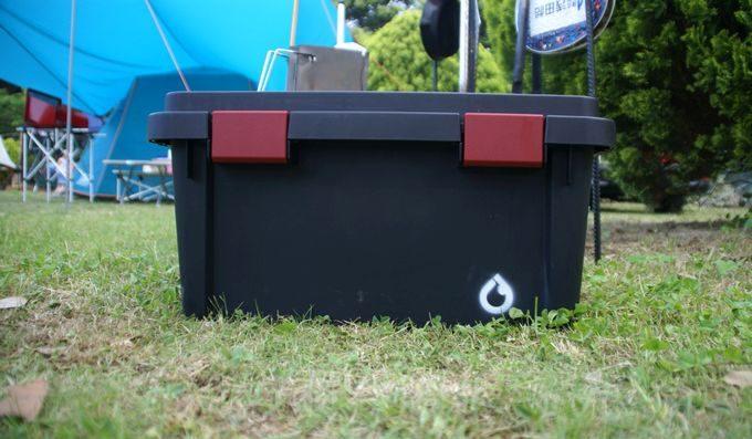 キャンプステンシル(キャンステ)で焚き火ツールボックスにログを刻む