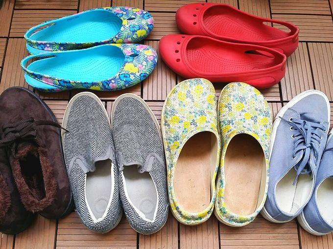 キャンプの靴(女性用)