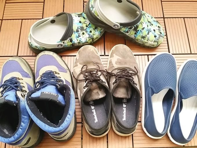 キャンプの靴(男性用)