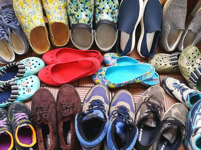 キャンプの靴 全部