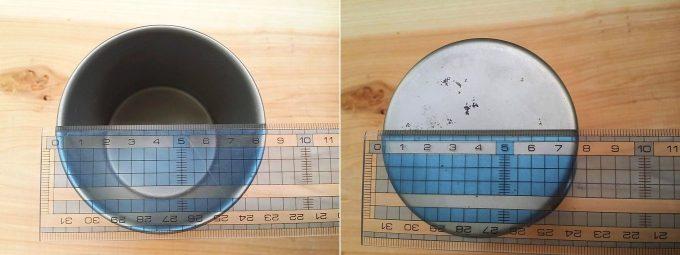 Gaobabu(ガオバブ)チタンマグカップのサイズ