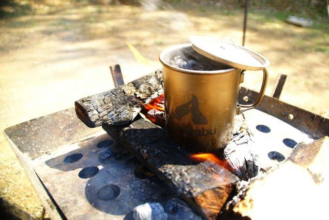 Gaobabu(ガオバブ)チタンマグカップでお湯を沸かす