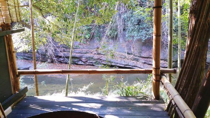 柿山田オートキャンプガーデンの露天風呂からの眺め