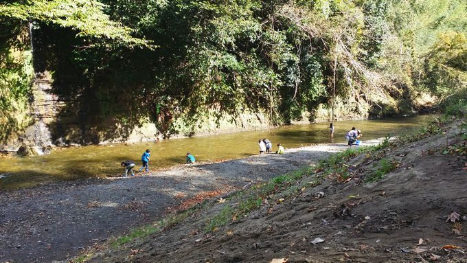 柿山田オートキャンプガーデンの川 (サイトB)