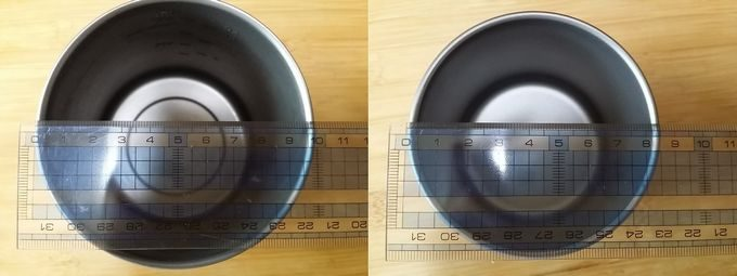 Lixadaシングルチタンマグカップのサイズ