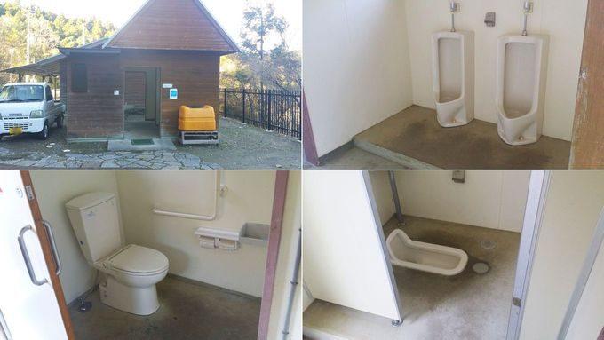 清和県民の森 オートキャンプ場のトイレ
