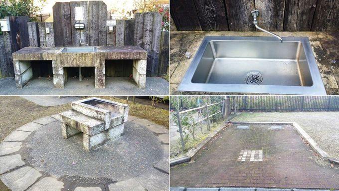 清和県民の森 オートキャンプ場の区画の設備