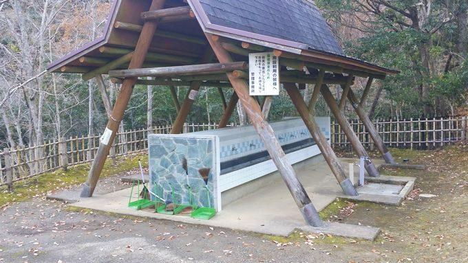 清和県民の森 キャンプ場 奥のサイトの水場
