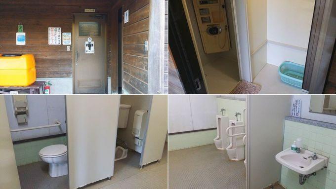 清和県民の森 キャンプ場 手前のサイトのトイレ・シャワー室