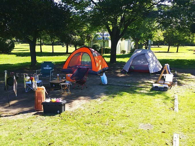 若洲公園キャンプ場でソロキャンプ