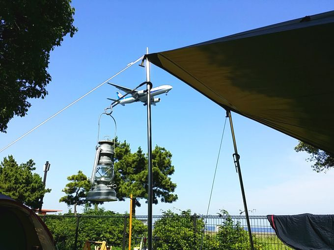 城南島海浜公園の飛行機(ANA)