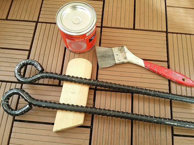 焚き火ハンガーを耐熱塗料する