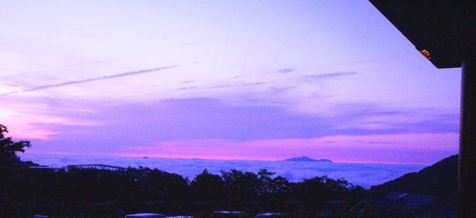 キャンピカ富士ぐりんぱの管理棟から見る雲海
