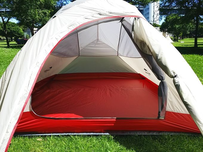 ネイチャーハイクのテント テントの中