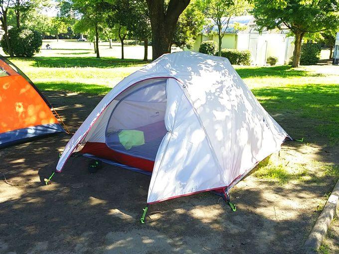 ソロキャンプ用のテント(ネイチャーハイク)