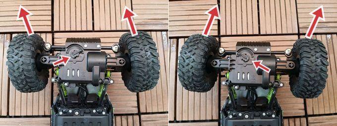 QSEKCHラジコンの、タイヤの角度を忠誠