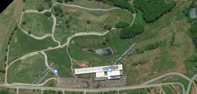 スノーピークヘッドクオーターズキャンプフィールド 衛星写真
