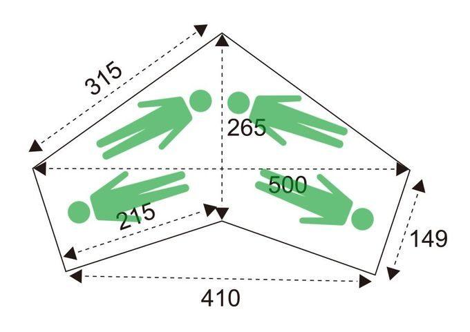 サーカス TC BIG インナーテント(ハーフ)のサイズ