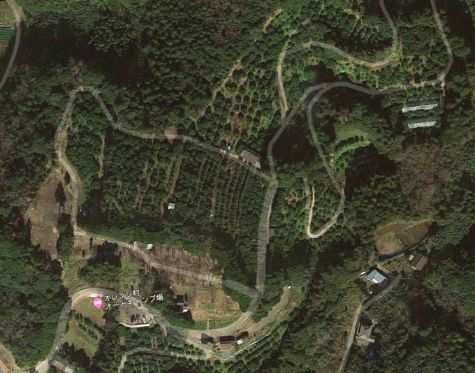 オレンジ村オートキャンプ場の衛星写真
