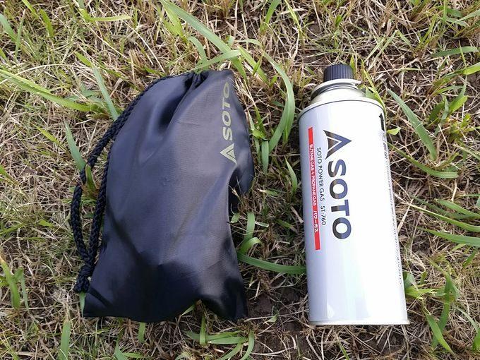 SOTOのST-301はCB缶と同じぐらいの収納サイズ