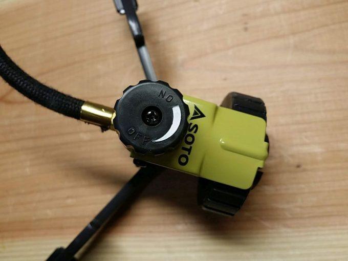SOTO ST-301の改造 ガス調整つまみをペイント