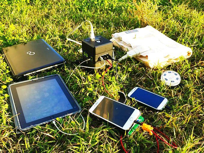 ポータブル電源をキャンプで使う