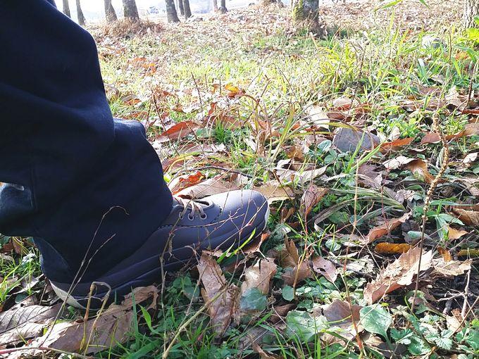 CROCS Blitzen Luxe Convertible Clogのブーツを隠して履いたコーデ