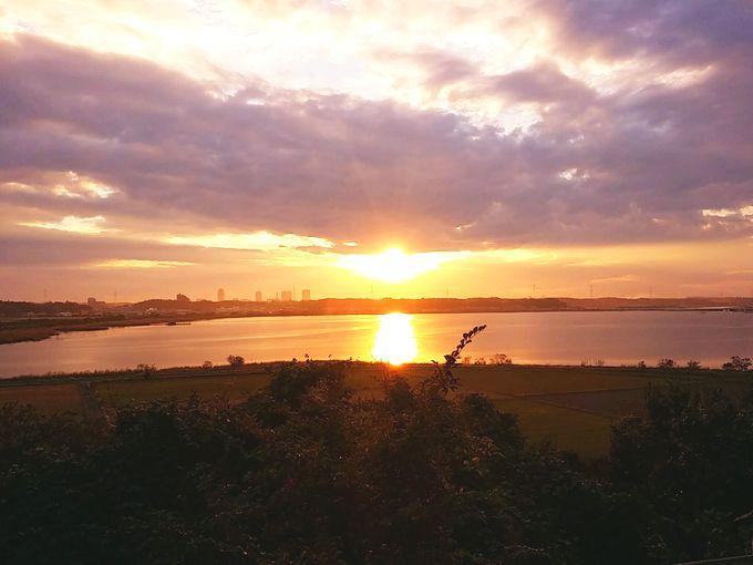 印旛沼サンセットヒルズの夕日