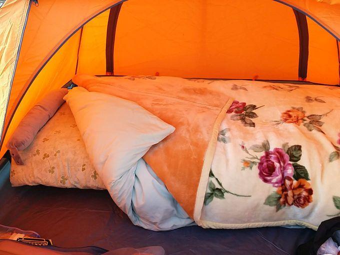 布団でキャンプ