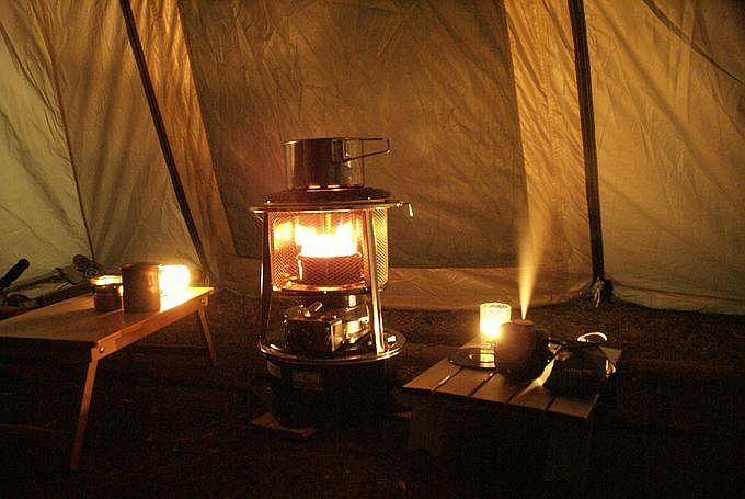 フジカハイペットをテント内で使う