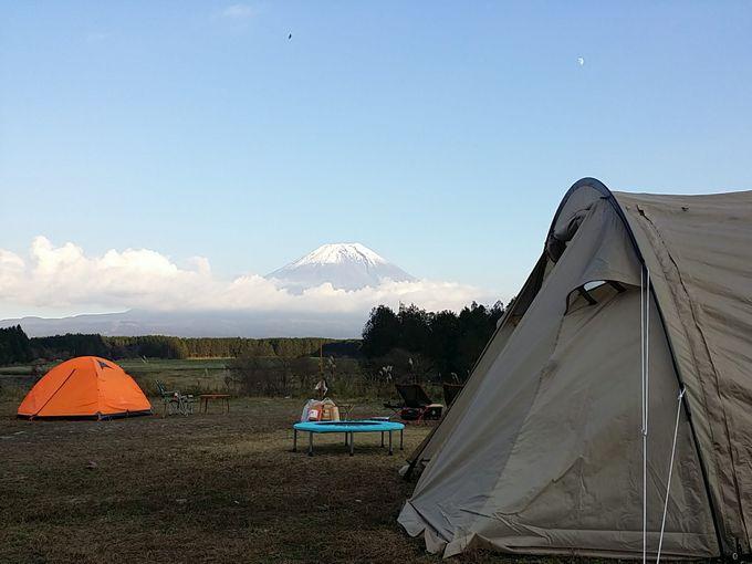 友人とふもとっぱらでキャンプ