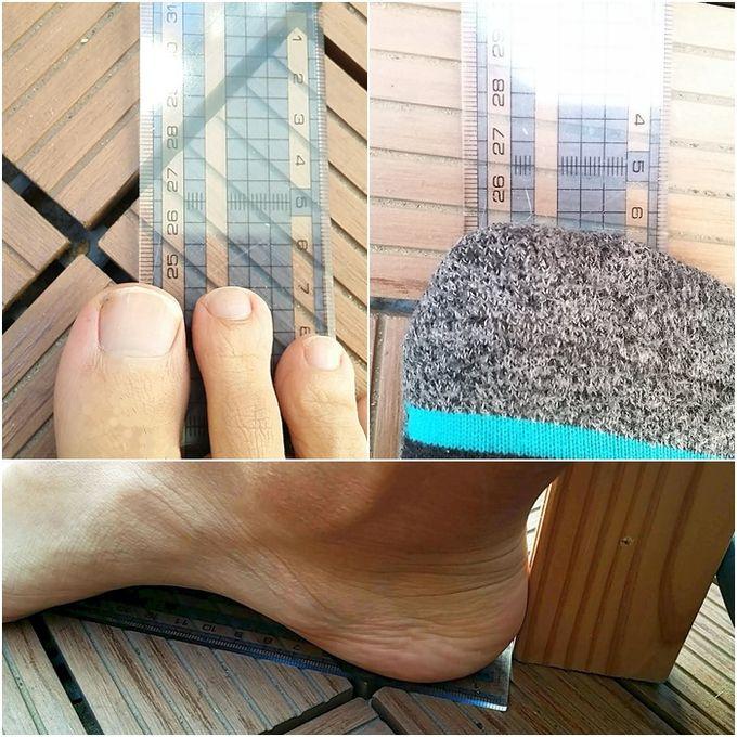 足のサイズ(実測)