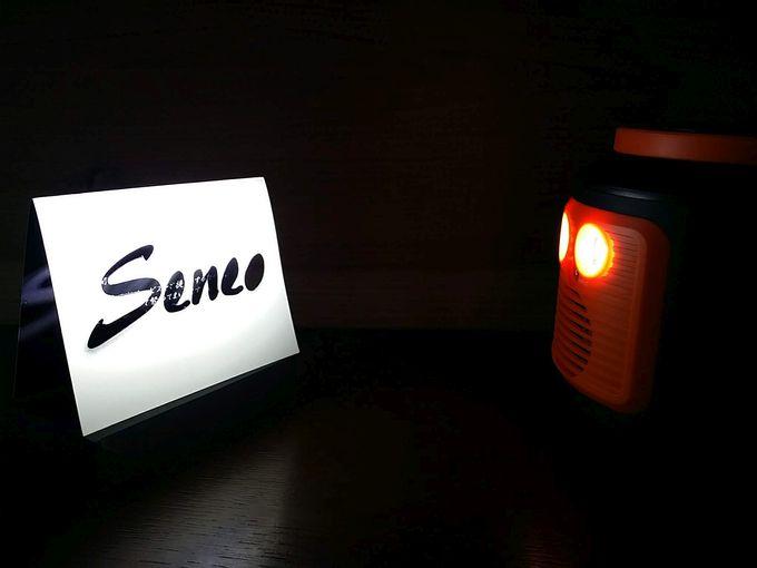 seneo s262 ポータブル電源のライト