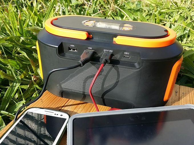 seneo s262 ポータブル電源のUSB出力で充電