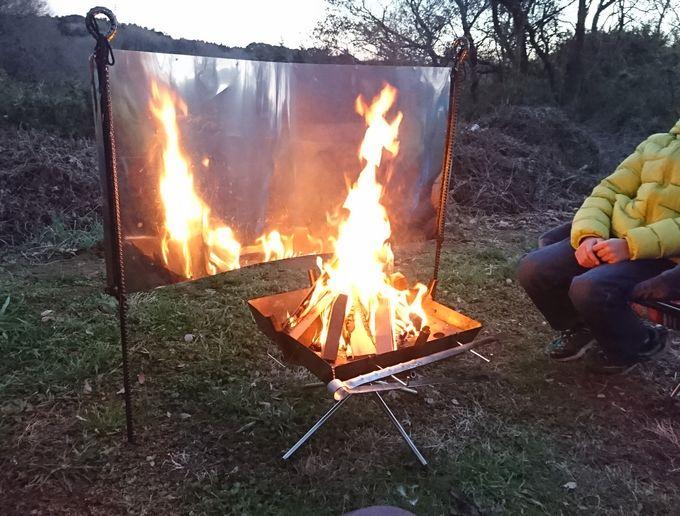 焚き火リフレクター