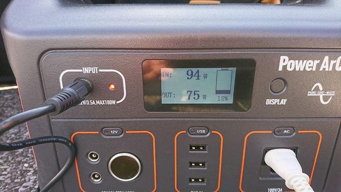 SmartTap PowerArQのディスプレイ表示