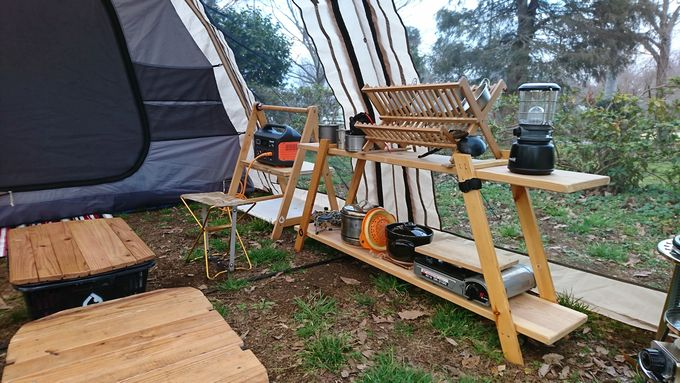 SmartTap PowerArQ オレンジをテント内でレイアウト